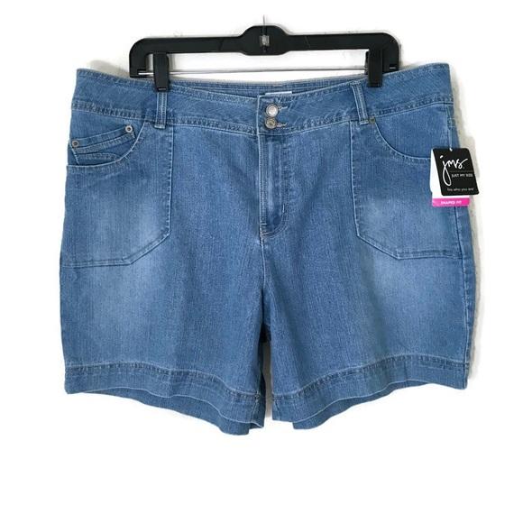 78e86b91817c4 New JMS 5 pockets denim shorts SZ 20W shaped fit